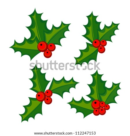 Free vector christmas holly leaf art free vector download (210,835 ...