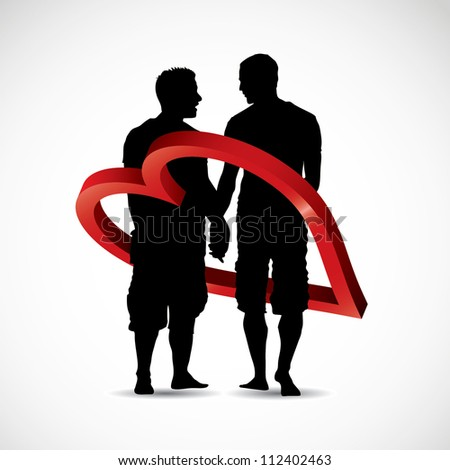 gay couple   vector illustration