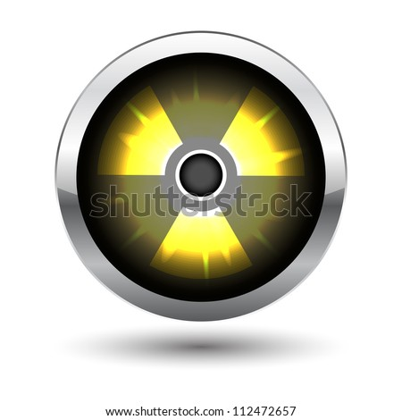metal glowing radiation icon