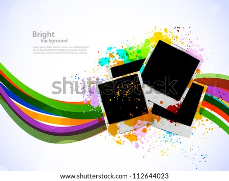 bright background with photo
