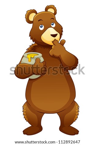 illustration of bear eating