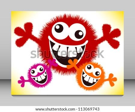crazy furry funny face cartoon