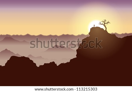 silhouette of a guy standing on