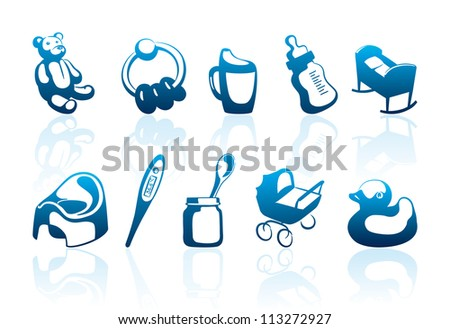 icons of baby and care of
