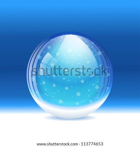 vector snow globe layered