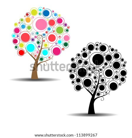 abstract ring tree vector