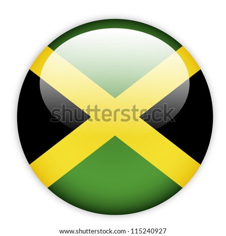 jamaica flag button on white