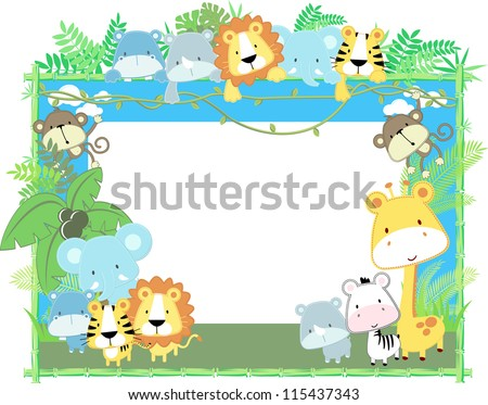 cute jungle baby animals jungle