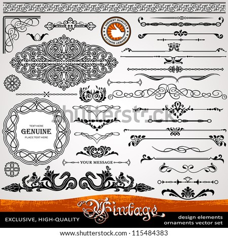 stock-vector-vintage-ornaments-and-dividers-calligraphic-design-elements-and-page-decoration-exclusive