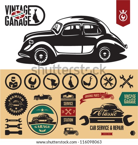 Vintage Car Badges Vin...