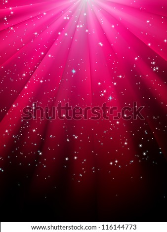 stars on red striped background