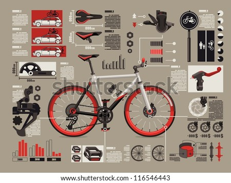 bicycle info graphics