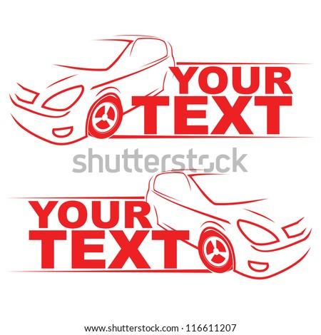 car racing auto logo line art