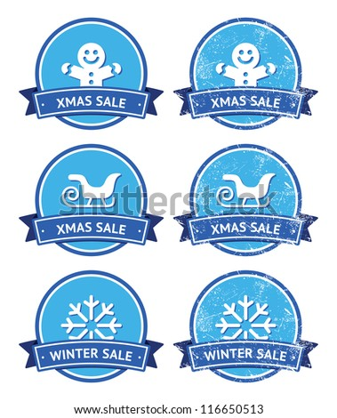 christmas and winter sale retro