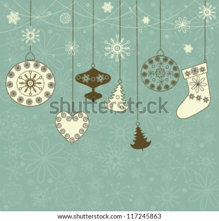 christmas retro background with
