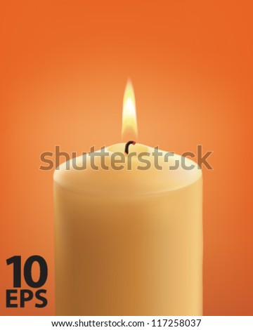 candle vector illustration