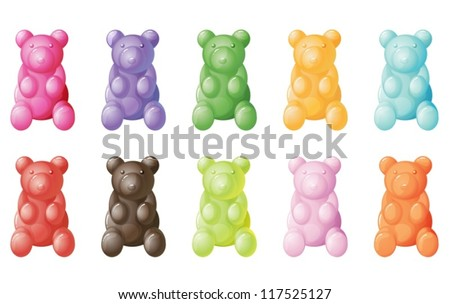 illustration of gummy bears on