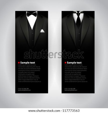 vector business cards with