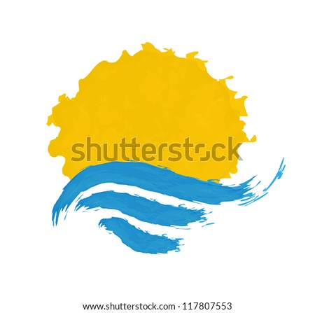 the sun and the sea vector