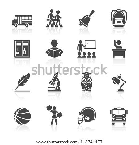 education icons set 3 vector