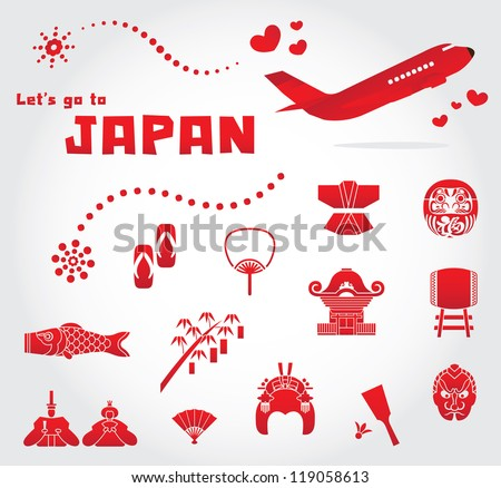 cute japan travel set