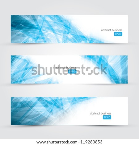 three abstract business banner