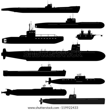 navy a set of paths submarines