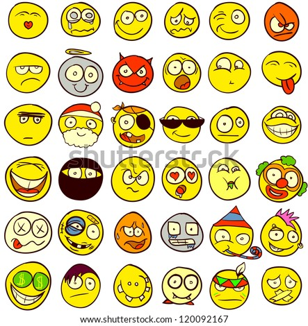 a set of 36 smileys for every
