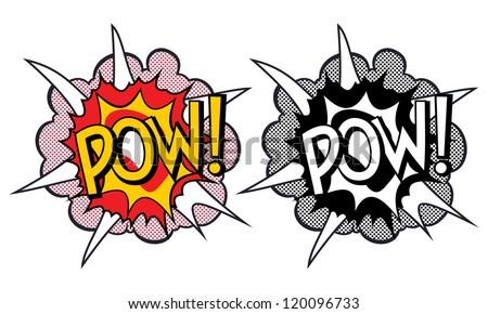 cartoon explosion pop art style