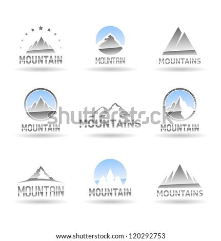 mountain icons set vol 1