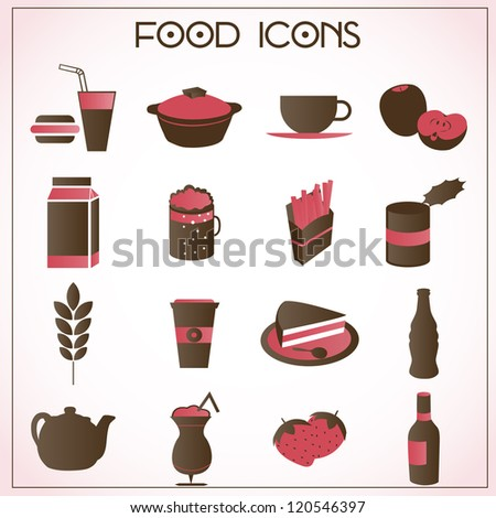 vector set of food and beverage