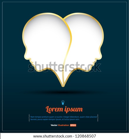 head heart vector   love