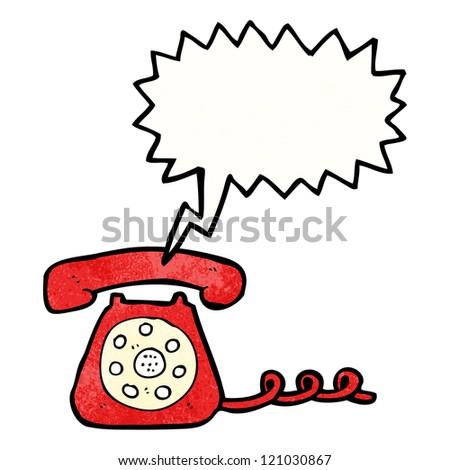 Cartoon telephone ringing
