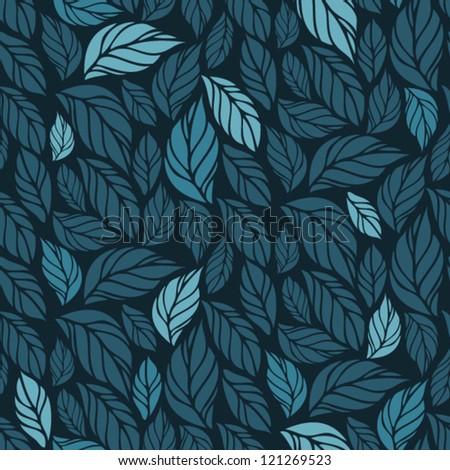 hand drawn seamless foliage
