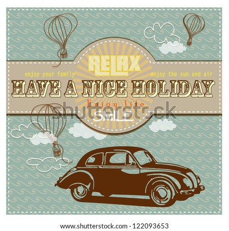 vintage holiday card with