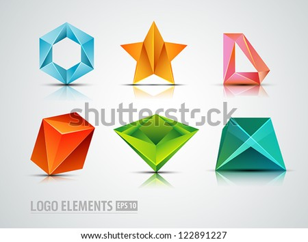 abstract logo elements