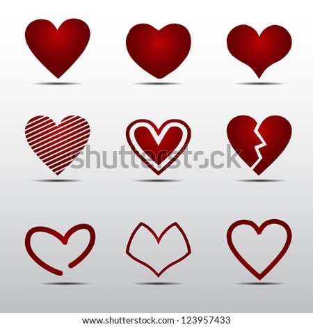 heart red vector
