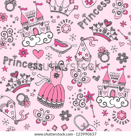 seamless pattern fairy tale