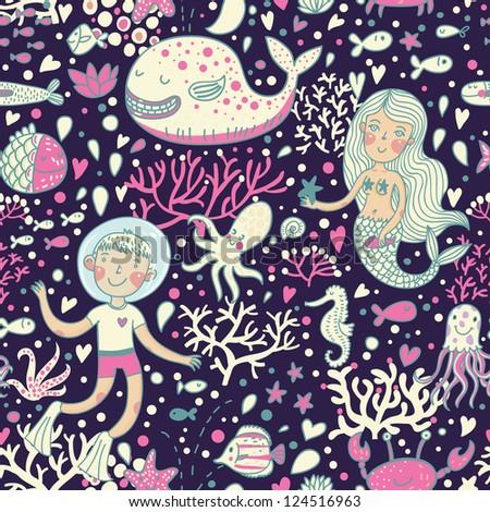 underwater cartoon world