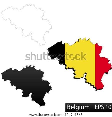 maps of belgium  3 dimensional