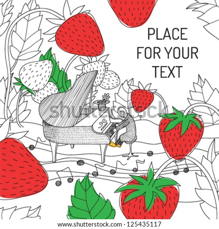 vector hand drawn card with