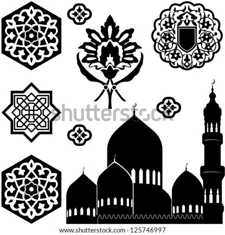 vector set of islamic ornaments