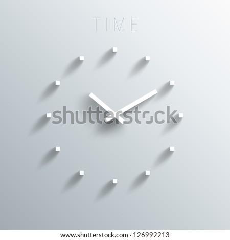 trendy minimalistic 3d clock