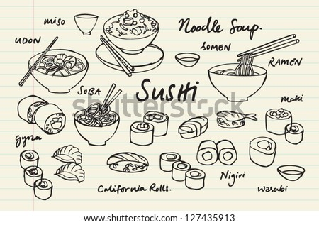 japanese food   sushi   noodles