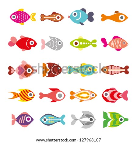 aquarium fishes   set of vector