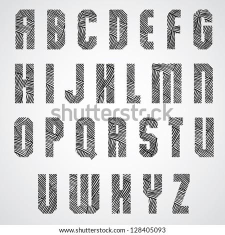 geometric shape bold poster