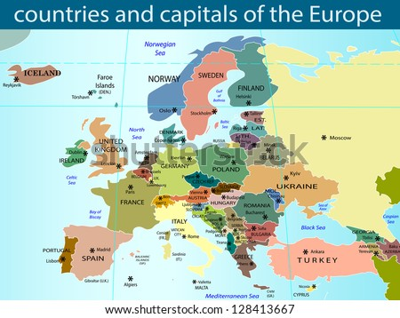 countries and capitals of the