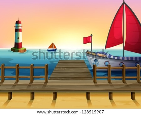 illustration of a sunset at the