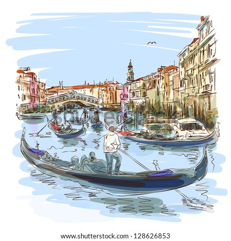 venice   grand canal view of