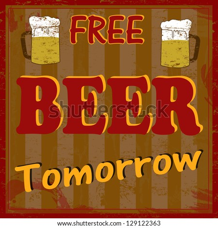 funny free beer tomorrow